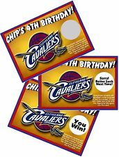 10 CLEVELAND CAVALIERS SCRATCH OFF OFFS PARTY GAMES GAME CARDS BIRTHDAY FAVORS