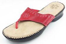 Dr. Scholl's Shoes Size 8 M Red Flip Flop Leather Women Sandal Shoes