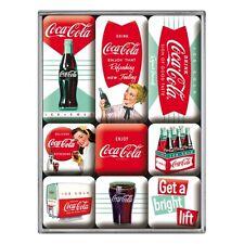 Kühlschrank-Magnet-Set Coca-Cola - Diner - 9-teilig - Retro - Viele Motive