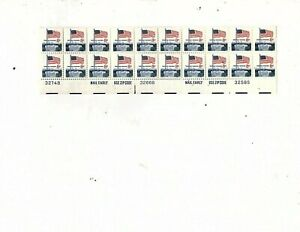 Error Color  1968 Used US Stamps Scott #1338f 8 Cent Flag & White House  (mb8