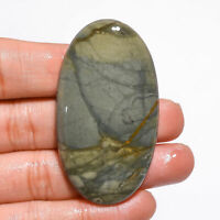 Natural Polychrome Jasper Oval Shape Cabochon Loose Gemstone 95 Ct. 56X31X6 mm