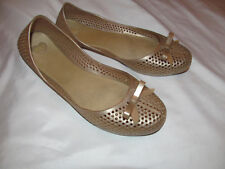 MEL DREAMED BY MELISSA perforated bow gold jelly plastic flats shoes US 7  **