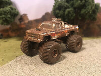 1984 Chevy K10 Square Body 4x4 Monster Truck Custom 1/64 Diecast 4WD Mud Bog
