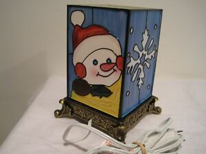 Snowman & Snowflake Electric Night Light / Lantern / Lamp  -  by DOLGENCORP INC