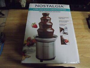 Nostalgia 4-Tier Chocolate Fondue Fountain Stainless Base