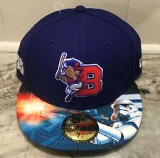 Era 59fifty Buffalo BISONS Star Wars Night Fitted Hat Size 7 1/2 Blue