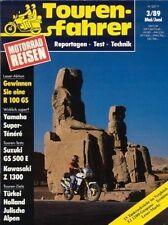 TF8903 + Test YAMAHA XTZ 750 Ténéré + Carell-FJ 1200-Shoo + Tourenfahrer 3/1989