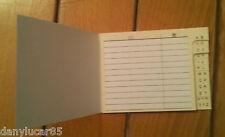 Mini piccola rubrica tascabile in cartoncino 8,5 X 6,3 Cm