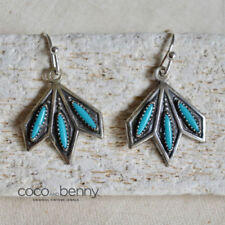 Earrings Turquoise Sterling Silver Vintage & Antique Jewellery