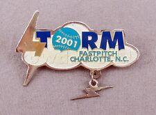 2001 Charlotte North Carolina Storm Team Girls Fastpitch Softball Baseball Pin