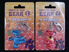 Japan Grateful Dead Dancing Bear Set 2 Orange & Blue Mini Jerry Keychian Figure