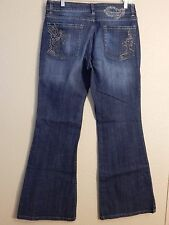 Devoted Dark Denim Wide Leg Jeans Womens Size 30 32x32