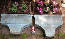 2 Antique Architectural Building Salvage Copper Down Water Spout Flower Garden