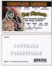 WF Wrestling License REY MYSTERIO wwf Drivers License FAKE ID driver's card wcw