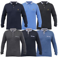 Mens Long Sleeved Jersey Top Brave Soul Pique Polo T Shirt Collared Summer New