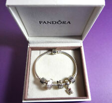 Pandora Authentic 925 Silv Bracelet Angel Hope All About Love Murano Bead Charms