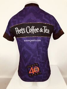 PEET'S COFFEE - Mens Md. VOLER - 40 Years Cycling Jersey - EXCELLENT