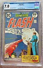Flash #224 Green Lantern back story CGC 7.0 FN/VF 1973 Bronze Age 20 cent comic