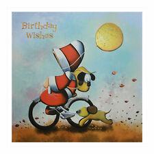 Santoro Hoodies - Grußkarte - Hoodie On Bicycle With Golden Balloon