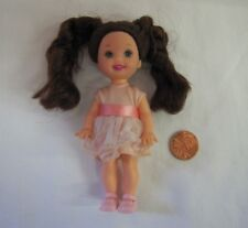 Barbie KELLY CHELSEA DOLL BRUNETTE CURLS Hazel Eyes Mattel Pink Fancy Dress Shoe