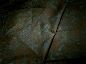 "1 1/8 Yard Dark Blue Batik on Black Unbranded Cotton Fabric New 43"" Wide"