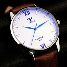 YAZOLE Men Quartz Watch Business Leather WristWatch Top Brand Watch Fashion