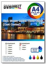 More details for 100 sheets a4  high quality high glossy 115gsm photo paper premium cast coated
