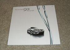 SAAB 93 Cabrio BROCHURE 2008 lineare AERO Vector Sport 1.8t 2.0t 1.9 9-3 TiD
