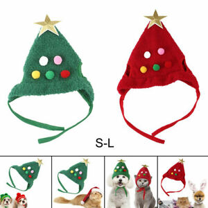Pet Dog Cat Hat Christmas Xmas Tree Headgear for Dressing Outfit Accessories