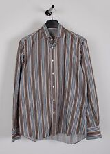Etro Milano Long Sleeves Stripped MUlticolored Men Shirt Size 40