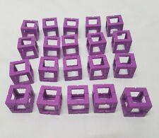 Lot of 20 Rokenbok Building System Purple 1x1 Building Blocks