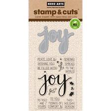 Hero Arts Stamp & Cut Joy #831 DC169 Stamp with Die
