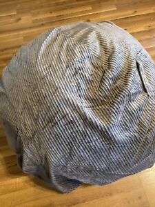 Pottery Barn Large Gray Chamois Bean Bag Cover