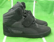 PUMA Shoes Suburb Hi Top Strap Cham Men  355434 01 Medium Width black SIZE 11 **