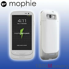 GENUINE Mophie Juice Pack Battery Case for Samsung Galaxy S III 3 S3 Gloss White