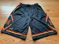 NEW UNIVERSITY OF MARYLAND TERRAPINS UNDER ARMOUR BASKETBALL SHORTS MENS LARGE L