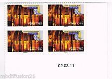2011/BLOC DE 4 COIN/DATE ADHESIF NEUF**SAINTE CHAPELLE DE PARIS*TIMBRE Y/T 562a