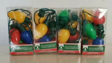 Lot Of 4 Holiday Christmas Light Up 6 Light bulb Necklace Great For Kids &Adults