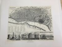 London. George Cox. Jan. 1st 1852 Calcutta by George Cox. 1852 Lithograph Print