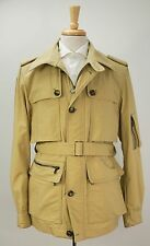 YSL Yves Saint Laurent Rive Gauche Tan Belted Cropped Nylon Trench Coat M 50