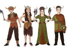 Boys Viking Costume Warrior Saxon Book Day Historical Medieval Girls Fancy Dress