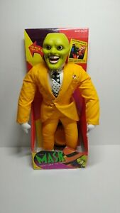 """NEW THE MASK ZERO TO HERO JIM CARREY PLUSH DOLL 16"""" 1994 EYES & TONGUE POP OUT"""