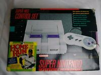 CIB Super Nintendo SNES Home Run Bundle System In Box - Matching Serial # *LOOK*