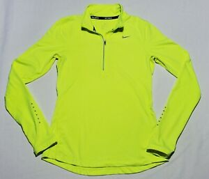 Nike Neon Yellow Women's Size XS Dri-Fit Running Activewear Long Sleeve Top