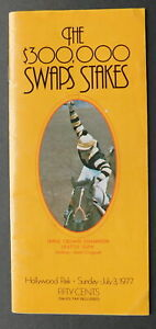 1977 SWAPS STAKES Program - SEATTLE SLEW - HOLLYWOOD PARK