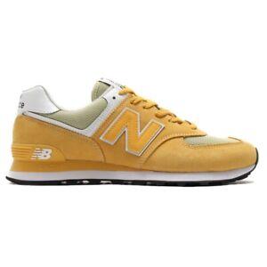 new balance 574 uomo pelle gialle