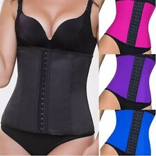 WAIST TRAINER Womens Latex Cincher Corset Training Shapewear Shaper black nude