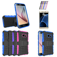 Hybrid Armor Shockproof Rugged Rubber Hard Case Cover for Samsung Galaxy S7