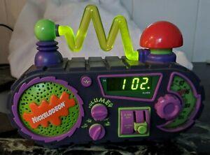 NICKELODEON TIME BLASTER ALARM CLOCK RADIO 1995BUTTONS RADIO ALARM WORK