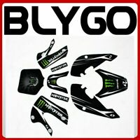MONSTER Decals Graphic Stickers Kit KLX110 Style Fairing PITPRO TRAIL Dirt Bike